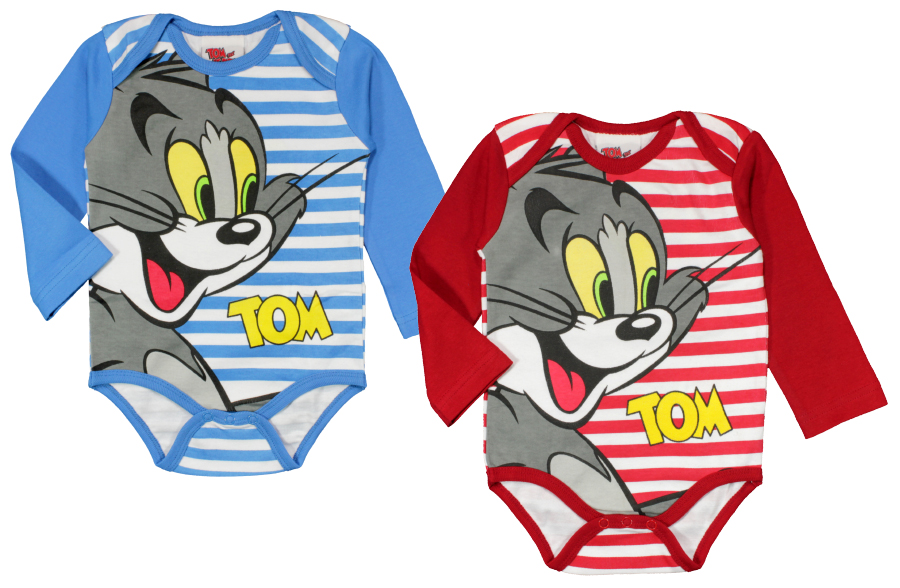 Baby Rompers Long<br>Sleeve Tom and Jerry