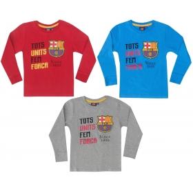 Bluzka chłopięca długi rękaw FC Barcelona