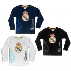 Bluzka chłopięca długi rękaw Real Madryt