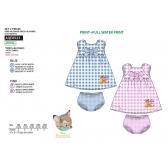 Bambi baby dress and panties set