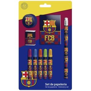 Zestaw przyborów szkolnych – 9 elementów FC Barcelona