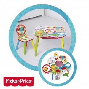 Krzesełko + stolik Fisher Price