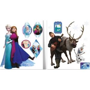 Naklejka ścienna zdejmowalna Frozen – Kraina Lodu -  2 arkusze