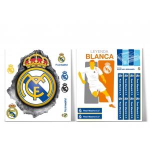 Naklejki ścienne – 2 arkusze Real Madrid