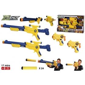 Pistolet 2w1 X-Shot + akcesoria