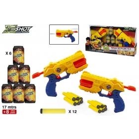 Pistolety rewolwery X-Shot + akcesoria