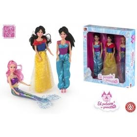 Lalki księżniczki 30 cm - 3 szt
