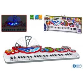Keyboard elektroniczny z mikrofonem