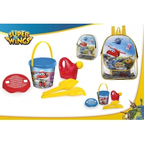 Zabawki do piasku + plecak Super Wings