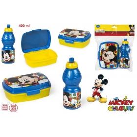 Zestaw śniadaniowy: pojemnik + bidon 400 ml Myszka Mickey