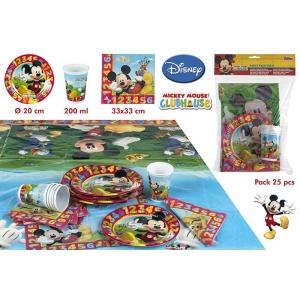 Zestaw urodzinowy dla 6 osób Myszka Mickey