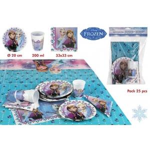 Zestaw urodzinowy dla 6 osób Frozen - Kraina Lodu