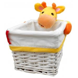 Koszyk wiklinowy - żyrafa Fisher Price