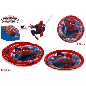 Talerzyki papierowe Spiderman
