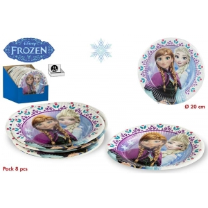 Talerzyki papierowe Frozen - Kraina Lodu
