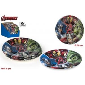Talerzyki papierowe Avengers