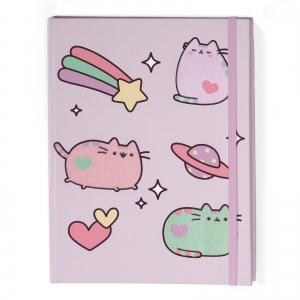 Pusheen™ Notes / zeszyt z gumką lila