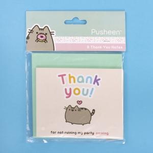 Kartka z podziękowaniami Pusheen – 8 szt