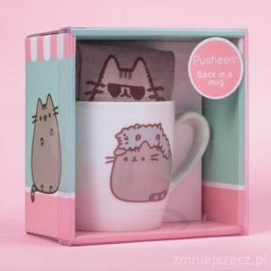 Zestaw prezentowy - kubek ceramiczny + skarpetki Pusheen
