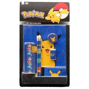 Zestaw przyborów szkolnych – 7 elementów Pokemon