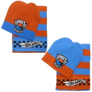Komplet: czapka jesienna / zimowa i szalik Hot Wheels