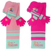Komplet: czapka jesienna / zimowa, szalik i rękawiczki Psi Patrol – 2 wzory