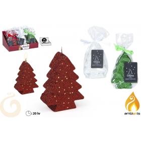 Świeczka świąteczna - choinka - 3 kolory