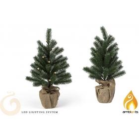 Drzewko świąteczne / choinka z lampkami LED 55 cm