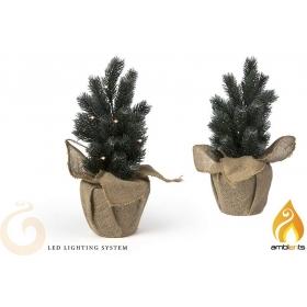 Drzewko świąteczne / choinka z lampkami LED 35 cm