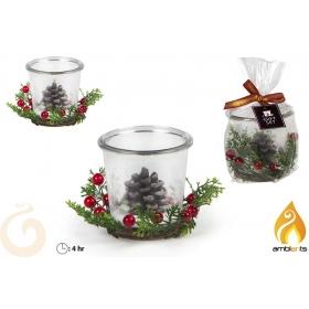 Świeczka świąteczna ze stroikiem