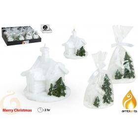 Świeczka świąteczna chatka - 3 wzory