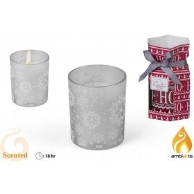 Świeczka świąteczna 6x7,5 cm - 2 wzory