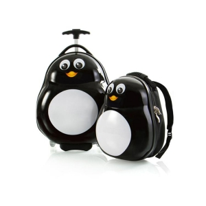 Zestaw: ultra lekka walizka i plecak Heys - Pingwin