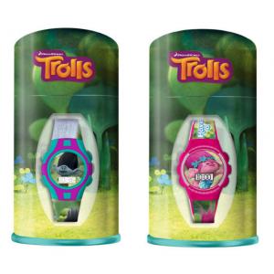 Zegarek na rękę w pudełku metalowym Trolle - losowy wzór