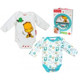Body niemowlęce z długim rękawem – 2 pak Fisher Price