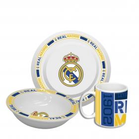 Zestaw śniadaniowy ceramiczny Real Madryt