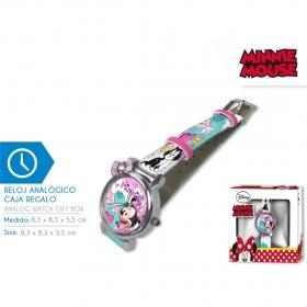 Zegarek na rękę w pudełku prezentowym Myszka Minnie