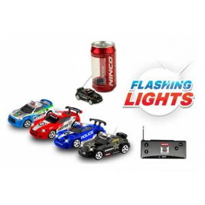 Sterowany samochód w puszce ze świecącymi światłami - losowy model