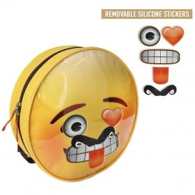 Plecak z naklejkami Emoji / Emotikony 34 cm