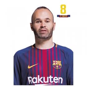 Kartka pocztowa Iniesta FC Barcelona