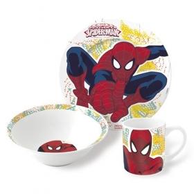 Zestaw śniadaniowy ceramiczny 3 częściowy Spiderman