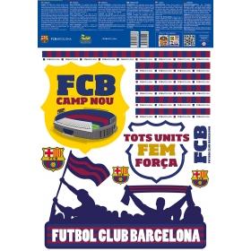 Naklejka ścienna zdejmowalna FC Barcelona – 2 arkusze