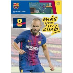 Naklejka ścienna zdejmowalna FC Barcelona – Iniesta -  2 arkusze