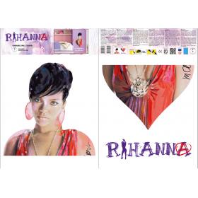 Naklejka ścienna zdejmowalna Rihanna