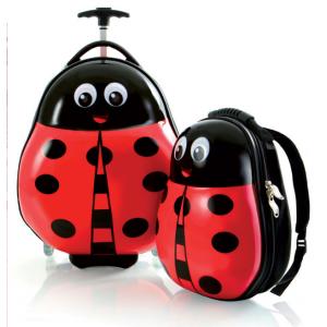 Zestaw: ultra lekka walizka i plecak Heys - Panda