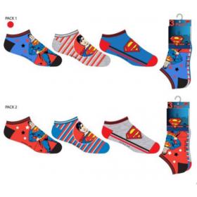 Skarpetki stopki Superman 3 pak