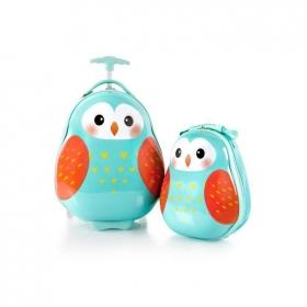 Travel Tots Owl - Kids Luggage & Backpack Set