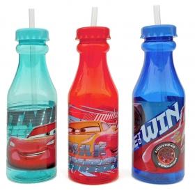 Butelka ze słomką Cars - Auta - losowy wzór