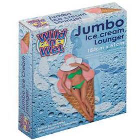 Materac dmuchany - Lód w waflu