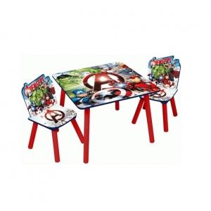 Zestaw drewniany stolik i krzesła Avengers